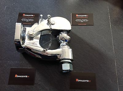 Very heavy duty Chrome Pintle tow Bar Hitch Hook off road recovery 4x4 8 Ton