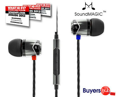 SoundMAGIC E10C EarPhones with MIC In-Ear Noise Cancelling HeadPhones  BLK/SIL