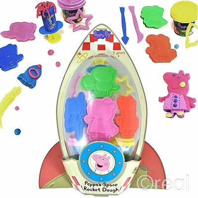 New Peppa Pig Space Rocket Dough Creative Activity Playset Moulds Doh Official