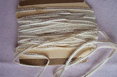 Antique Victorian  Edwardian Double sided picot Braid Lace Trim