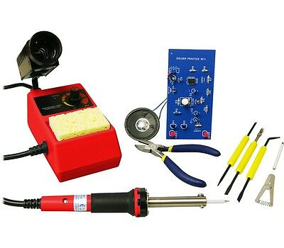 Elenco DIY Deluxe Learn to Solder Kit with Complete Soldering Station and Tools