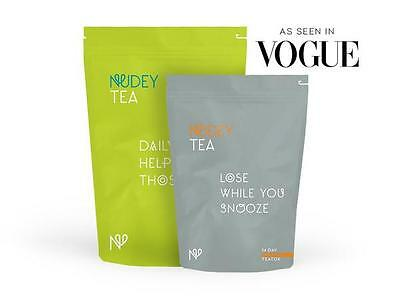 NUDEY TEA 14 Daytime And 14 Bedtime +Insulated Travel cup, DETOX TEA,WEIGHT LOSS