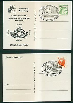 1970's/80's European Firefighting Special Cancels on Postcards & Cards Group