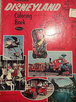 Vintage 1960s Walt Disney's Disneyland Coloring Book Authorized Edition