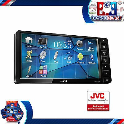 "Jvc Kw-V520Bt 7"" Bluetooth Multimedia Car Stereo Mirroring App Mode Dvd Usb"