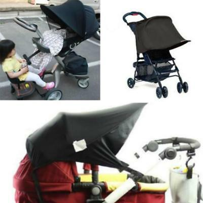 Universal Kids Baby Stroller Canopy Cover Sun Rain Protect Seat Extended LJ