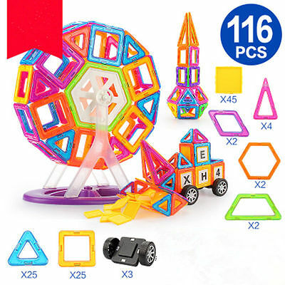 116 PCS Similar Magformers Toys Magspace Magnetic building blocks Kids Games New