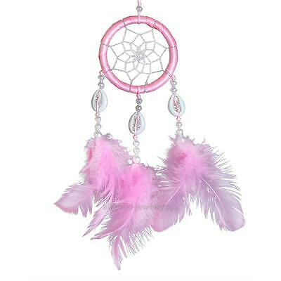 Handmade Pink Dream Catcher With Feathers Wall Hanging Decoration