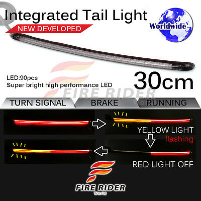 FRW 30cm LED Integrated Tail Light Brake Turn Signal FOR Universal Motorcycle