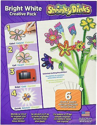 Shrinky Dinks Bright White 6 Sheet Creative Pack [0SD800-6A] BRAND NEW [AOI]