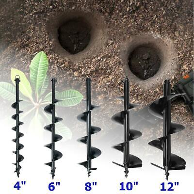 """56CC Gas Post Hole Digger Fence Earth Digger ONE MAN W/ 4"""" 6"""" 8"""" 10"""" Auger Bits"""