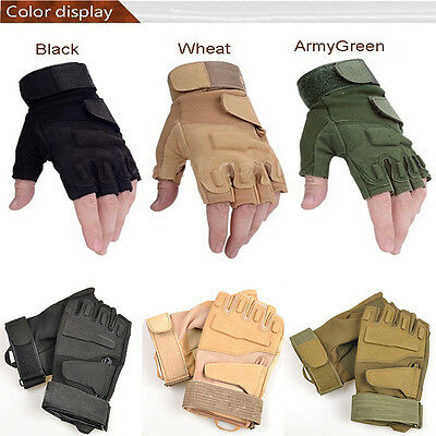 Outdoor Half Finger Gloves Military Tactical Airsoft Hunting Riding Cycling top
