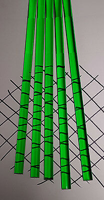 "5 Clear Green 3/8"" Diameter 12"" Inch Long Acrylic Plexiglass Lucite Colored Rod"
