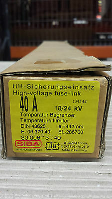 SIBA, 3000613.40 High voltage fuse link 40A 10/24kV, USED OVP