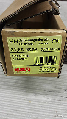 SIBA, 3000613.31,5 High voltage fuse link 31,5A 10/24kV, *NEU*OVP