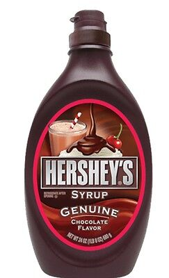 2 x HERSHEY'S GENUINE CHOCOLATE FLAVOURED SYRUP TOPPING 680G - MADE IN USA