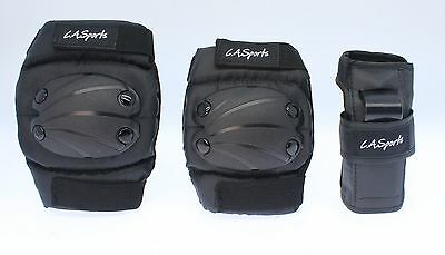 Medium Kids Knee Pads, Elbow Pads and Wrist Guards (Set of 6 Pads) - ages 6 - 9