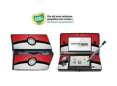 Pokémon Pokeball Vinyl Skin Sticker for Nintendo 3DS