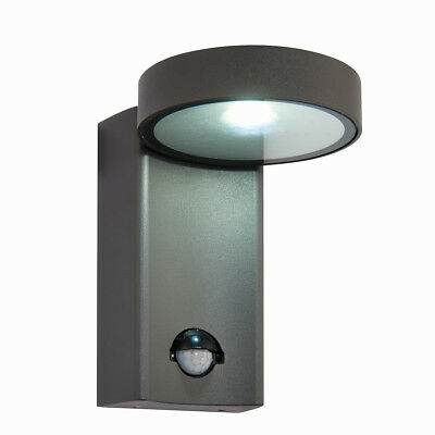 Saxby Oreti 10W Aluminium Adjustable Outdoor Garden PIR IP44 LED Wall Light