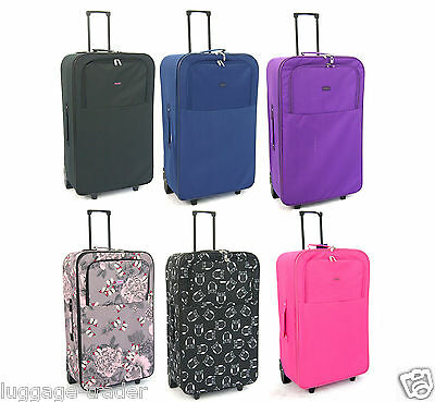 "Extra Large 30"" Super Lightweight Travel Wheeled Trolley Luggage Suitcase Case"