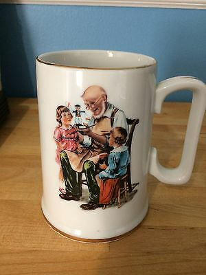 "Norman Rockwell ""The Toy Maker"" The Museum 1986 cup mug"