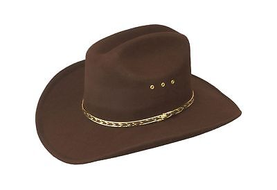 Western Child Cowboy Hat For Kids Brown One Size (Elastic Band)