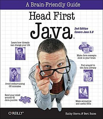 Head First Java by Bert Bates Paperback Book The Cheap Fast Free Post