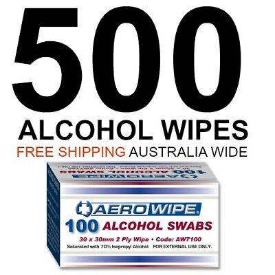 Alcohol Wipes (x 500) Medical Wipes  Medi Swabs Sterile Screen Cleaners