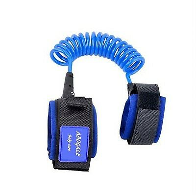 ABOGALE Baby Child Anti Lost Safety Velcro Wrist Link (Blue) Blue New