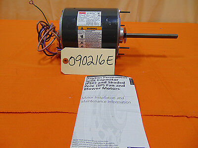 Dayton Condenser Fan Motor, 3/4 HP, 1075 RPM