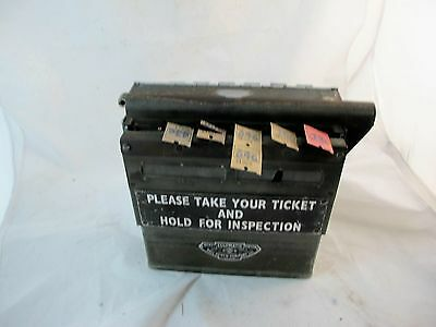 original bus drivers ticket dispensing machine, by soslmatic, bell punch co. lon