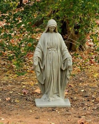 Virgin Mary Statue Sculpture Our Lady Garden Figurine Religious Mother Catholic