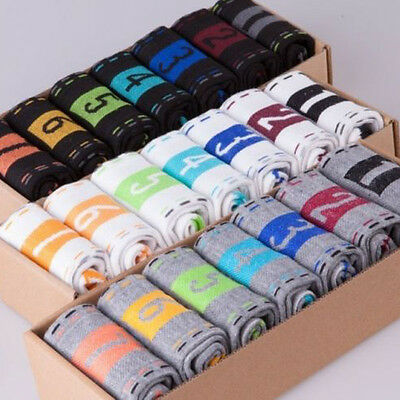 7 Pairs Hot Fashion Mens Dress Cotton Socks Week Crew Socks Men's Choose