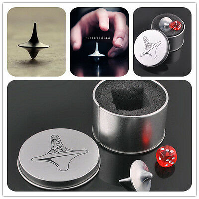 Quality Inception Totem Accurate Spinning Top Zinc Alloy Silver Vintage Toy WB