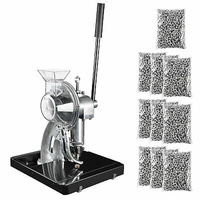 Semi-Automatic Grommet Machine Hand Press Tool with 10,000pcs #2 Eyelet Banner