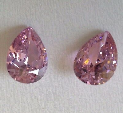 Pear Pink Cubic Zirconia  Loose Stones  IF CZ  wholesale USA Lots - AAA