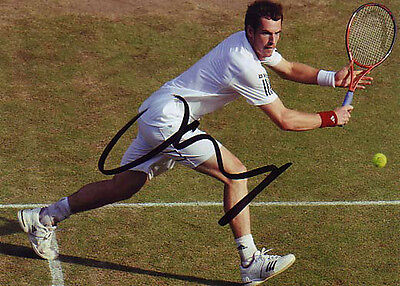 Andy Murray Signed 5X7 Inches Tennis Wimbledon Photo