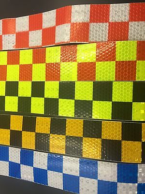 """2""""1M Grid Reflective Safety Warning Conspicuity Tape Film Sticker"""