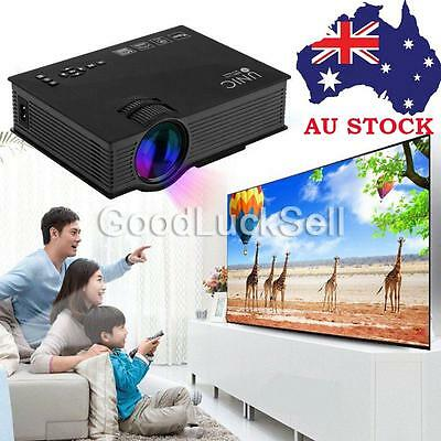 2016 Mini UC46 Wifi 1080P Video Projector LED 3D Home Theater TV USB VGA IN AU