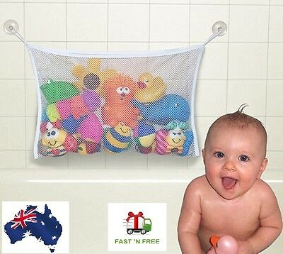 Baby Kids Bath Toy Hanging Sucker Storage Bag Organizer Child Net Suction Tub