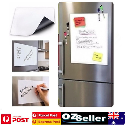 A4 Magnetic Dry Erase Whiteboard  Fridge White Board Reminders Office Memo