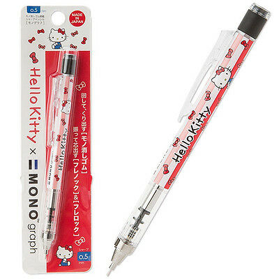 Hello Kitty x MONO eraser with mechanical pencil [MONO graph] Made in Japan F/S
