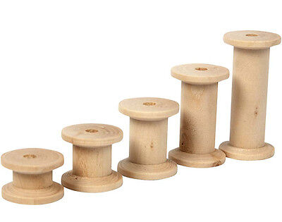 10 Assorted Wooden Cotton Reels for Crafts | Wooden Shapes for Crafts