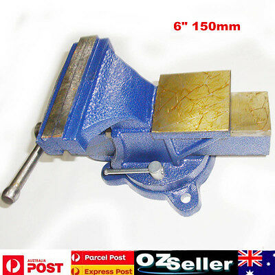 """Heavy Duty 6"""" 150mm Mechanic Bench Vice Clamp Swivel Base Table Top Clamp"""