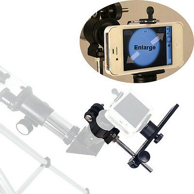 Universal Spotting Scope Telescope Adapter Metal Mount Bracket for Camera Phone
