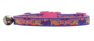 "Pink  "" Peppa Pig""   safety kitten cat collar 3 sizes"