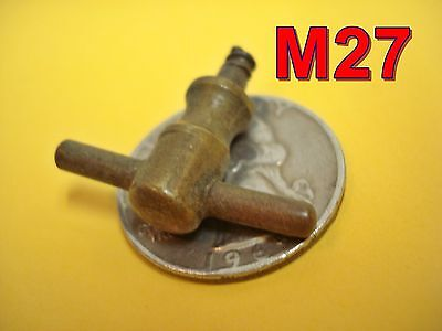 "Antique Brass ""T"" KNOB door/drawer pull desk machinest chest dental cabinet*M27"
