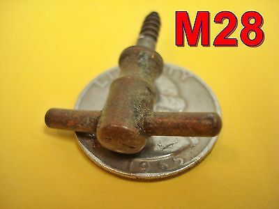 "Antique Brass ""T"" KNOB door/drawer pull desk machinest chest dental cabinet*M28"