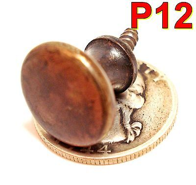 ORIGINAL Antique GLOBE WERNICKE Barrister Bookcase Brass Door KNOB macey *P12*