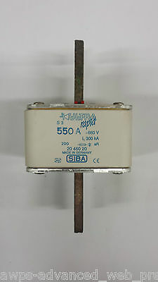 SIBA, UltraRapid Sicherung/fuse S3 550A 660V (2046020), USED